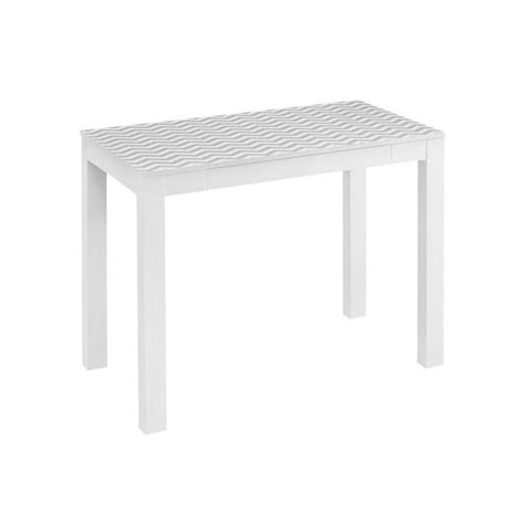 Altra Parsons Desk White by Altra Furniture Parsons 1 Drawer Home Office Desk In White