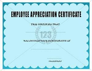 Employee Certificate Templates Free Employee Appreciation Certificate Template Certificate Templates Certificate Template