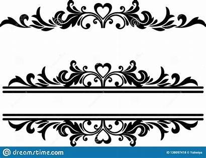 Line Floral Fancy Underline Clip Element Decorative