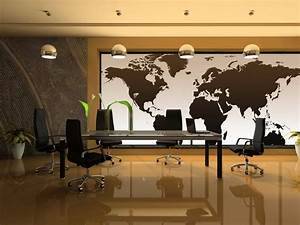 National Geographic Executive World Map Wall Mural For