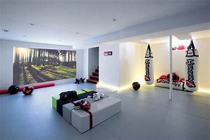 Home gym design ideas basement basement contemporary with