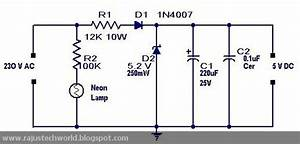 Raju U0026 39 S Tech World  Ac To Dc Converter Circuit Without
