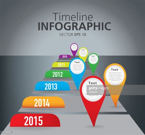 Colorful Comparison Timeline Infographic With Graph ...