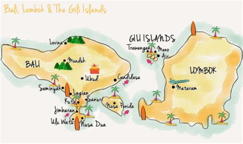 gili islands indonesia map