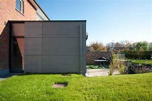 Bardage Fibre Ciment : bardage de l 39 annexe en panneaux de fibre ciment ton gris ~ Farleysfitness.com Idées de Décoration