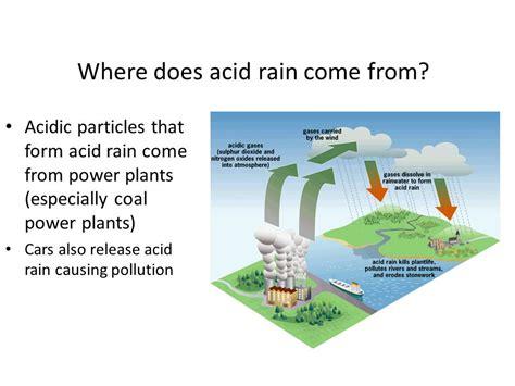 how to form acid rain acid rain ppt download