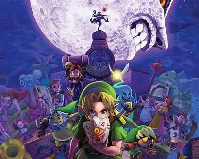 Zelda Mask Legend Link Majoras Majora Skull