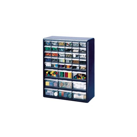 plastic storage cabinets lowes shop stack on 39 drawer blue plastic storage cabinet at