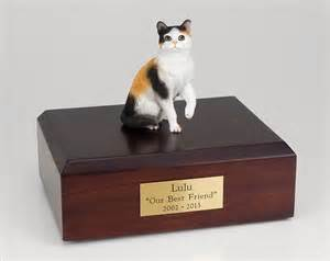 pet urns for cats calico cat figurine pet cremation urn