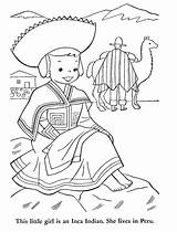 Inca Coloring Pages Getcolorings sketch template