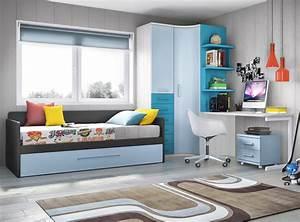 Chambre ado garcon avec armoire courbe pratique glicerio for Chambre ado garçon avec matelas pour lit relaxation