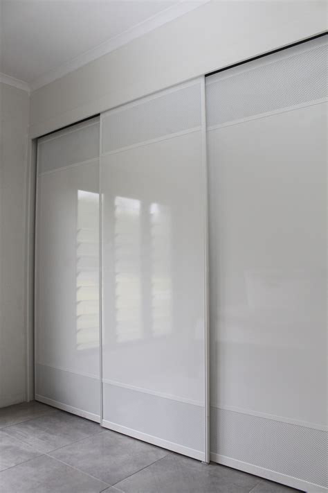 White Wardrobe Cupboard by White Troppo Sliding Doors With White Mesh Office In