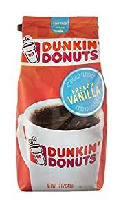   skip to page navigation. Dunkin Donuts French Vanilla Flavoured Ground Coffee 340g: Amazon.co.uk: Kitchen & Home