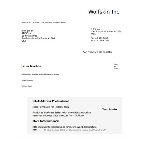 formal letter template word 50 business letter templates pdf doc free premium templates