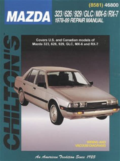 chilton car manuals free download 1989 mazda rx 7 head up display used chilton mazda 323 626 929 glc mx 6 rx 7 1978 1989 repair manual