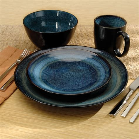 dinnerware stoneware adriatic oneida sets kitchenstuffplus modern dish plus dinner
