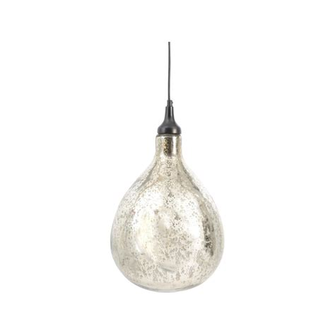 silver blown glass ceiling light on sale at