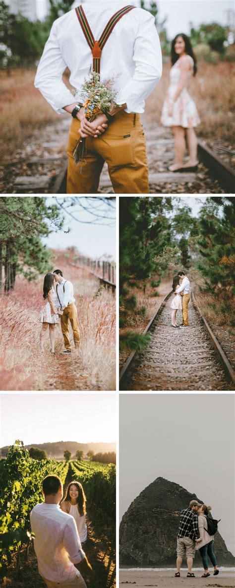 kreative verlobungsfotos ideen hochzeitskiste