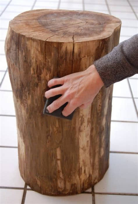 how to make a tree stump end table stumped how to make a tree stump table the art of doing
