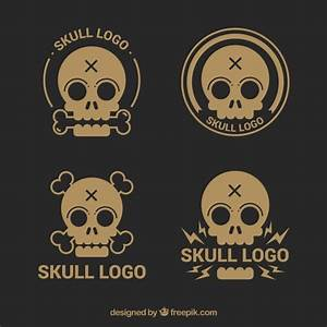 variety of skull logos in vintage style Vector | Free Download