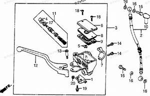 Honda Motorcycle 1985 Oem Parts Diagram For Front Brake