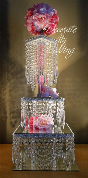 decorate  wedding crystal wedding cake centerpieces