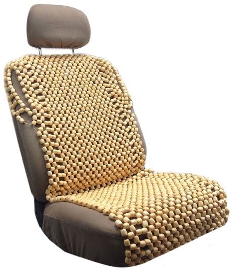 wooden bead seat cushion cover wood beaded