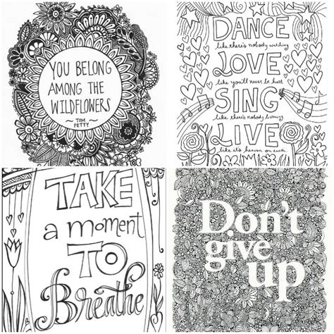 inspirational words grown  colouring pages   playroom