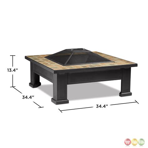 breckenridge outdoor wood burning  square fire pit