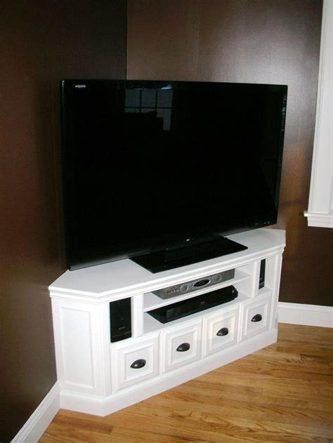 20 Best White Wood Corner Tv Stands   Tv Cabinet And Stand