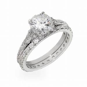 sterling silver wedding rings wedding promise diamond With silver and diamond wedding rings