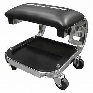 Garage Seat : biketek chrome heavy duty mechanics workshop garage creeper stool seat with tray ebay ~ Gottalentnigeria.com Avis de Voitures