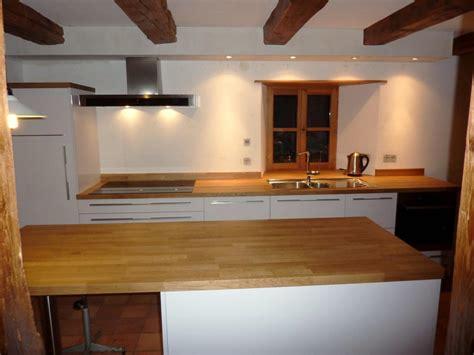 plan de travail cuisine bois idee deco cuisine galerie avec cuisine blanche plan de