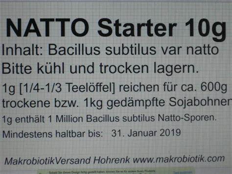 Wo Kann Ammoniak Kaufen by Natto Starter 10g Makrobiotik