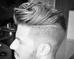 Kurze Frisuren Männer : kurze frisuren mit seite rasierte f r m nner ~ Frokenaadalensverden.com Haus und Dekorationen