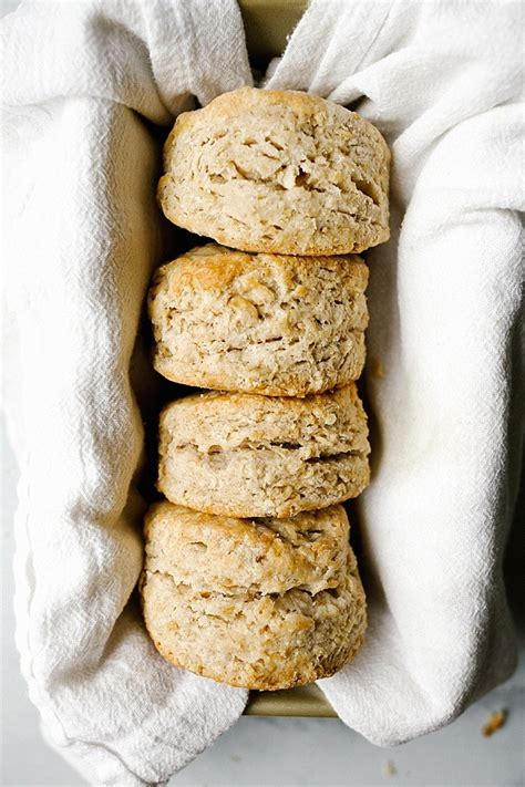 maple oatmeal biscuits wood spoon