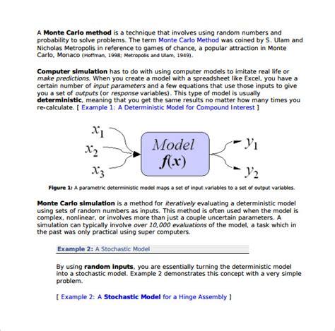 sample monte carlo simulation template