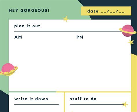 membuat agenda harian   contoh desain canva