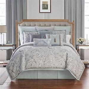 Waterford, Farrah, Aqua, Comforter, Set