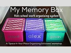 My Memory Box Kids school work organizing system at Bear