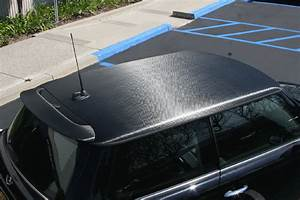 Carbon Fiber Roof Wrap On A Mini Cooper