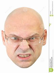 Man With Glasses Angry Facial Expression Stock Image ...
