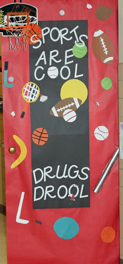 sports  cool drugs drool sports theme red ribbon week