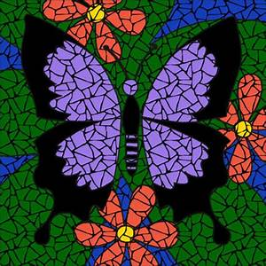 Purple butterfly mosaic kit - Brett Campbell Mosaics