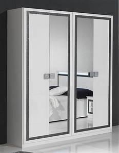 Armoire 4 Portes : armoire 4 portes thema blanc ~ Teatrodelosmanantiales.com Idées de Décoration
