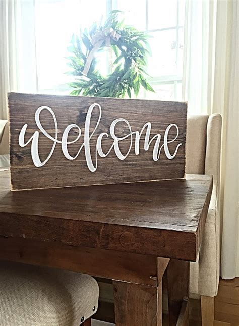 sign home decor rustic hand painted wood sign