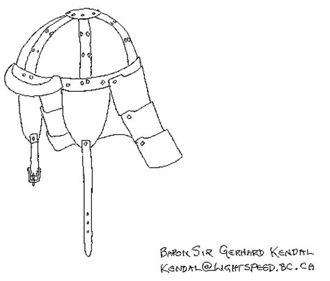 helm template armour archive pattern archive leather helm by gerhard