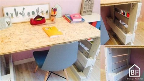 fabriquer un bureau en palette palette en bois diy tutos recyclage récup meubles