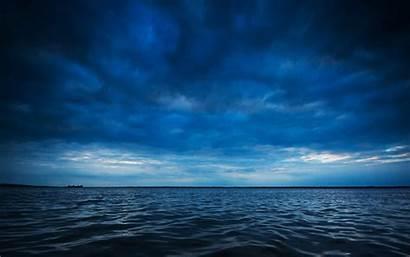 Ocean Water Sea Horizon Clouds Waves Desktop