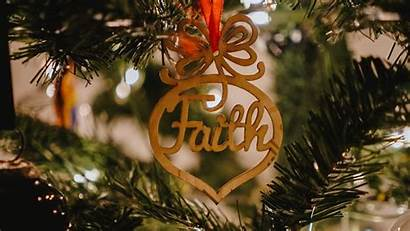Faith Word Decoration Christmas Tree Background 1080p